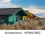 helgoland city   colorful... | Shutterstock . vector #493867882