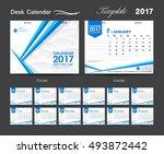 set desk calendar 2017 template ... | Shutterstock .eps vector #493872442