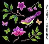 decorative bird  songbirds... | Shutterstock . vector #493878742
