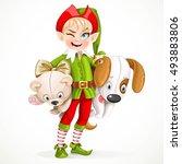cute boy elf santa's assistant...