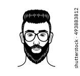 vector portrait hipster image...   Shutterstock .eps vector #493883812