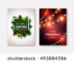 christmas brochures templates ... | Shutterstock .eps vector #493884586