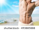 beach. | Shutterstock . vector #493885888