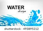 water design  splash wave on... | Shutterstock .eps vector #493895212