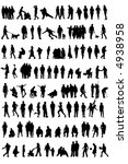silhouetted vectors of people ... | Shutterstock .eps vector #4938958