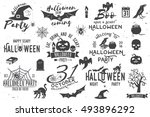halloween party vintage icon ... | Shutterstock .eps vector #493896292