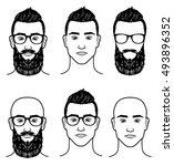 vector template for barbershop | Shutterstock .eps vector #493896352