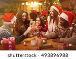 christmas toast | Shutterstock . vector #493896988