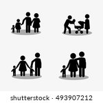 traditional family image  | Shutterstock .eps vector #493907212
