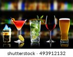 selection of best selling... | Shutterstock . vector #493912132