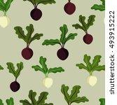 beetroot and sugar beet  ... | Shutterstock .eps vector #493915222