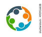 business cooperation between... | Shutterstock .eps vector #493916638