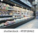 supermarket place blur... | Shutterstock . vector #493918462