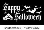 happy halloween background.... | Shutterstock .eps vector #493919332