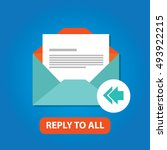 reply to all email icon vector...   Shutterstock .eps vector #493922215
