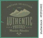 vintage vector of wilderness... | Shutterstock .eps vector #493924402