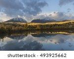 break through   sun streaks... | Shutterstock . vector #493925662