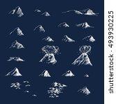 Old map mountains blueprint dark theme