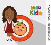 menu kids design   Shutterstock .eps vector #493930912