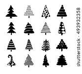 hand drawn cartoon christmas... | Shutterstock . vector #493932358