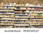 blurred image of vitamin store... | Shutterstock . vector #493934515