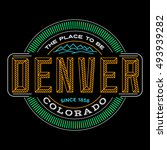 denver  colorado  linear logo ... | Shutterstock .eps vector #493939282