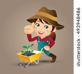 people set   profession   farmer | Shutterstock .eps vector #493948486