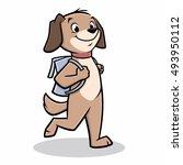 vector illustration of a dog...   Shutterstock .eps vector #493950112