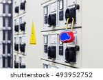 lockout tagout   electrical... | Shutterstock . vector #493952752