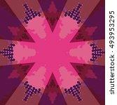 flat ethnic seamless pattern.... | Shutterstock .eps vector #493953295