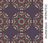 seamless pattern ethnic style.... | Shutterstock . vector #493967512