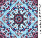 seamless pattern ethnic style.... | Shutterstock . vector #493967548