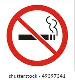 red round no smoking sign ... | Shutterstock .eps vector #49397341
