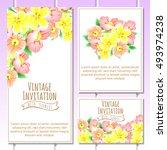romantic invitation. wedding ... | Shutterstock . vector #493974238