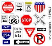 road and highway signs  vector  | Shutterstock .eps vector #4939819