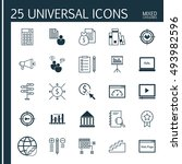 set of universal icons on... | Shutterstock .eps vector #493982596