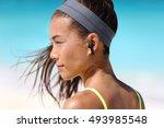 active life woman listening to... | Shutterstock . vector #493985548