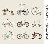 bicycle history vector... | Shutterstock .eps vector #493993372