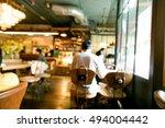 coffee shop blur background...   Shutterstock . vector #494004442