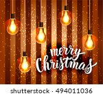 merry christmas. holiday vector ... | Shutterstock .eps vector #494011036