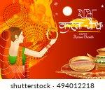 creative concept of a indian...   Shutterstock .eps vector #494012218