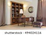 elegant stylish room with...   Shutterstock . vector #494024116