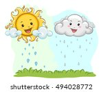 colorful illustration of a... | Shutterstock .eps vector #494028772