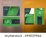 corporate business card print... | Shutterstock .eps vector #494029966