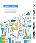 beauty shop   line design... | Shutterstock . vector #494035372