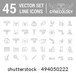 vector set of icons. gynecology ...