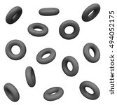 black donut. abstract simple... | Shutterstock . vector #494052175