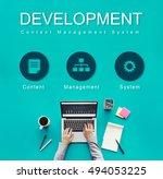 development website data... | Shutterstock . vector #494053225