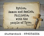 Small photo of TOP-1000. Bible verses from Psalms. Byblos, Ammon and Amalek, Philistia, with the people of Tyre.