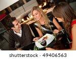 group of friends having dinner... | Shutterstock . vector #49406563